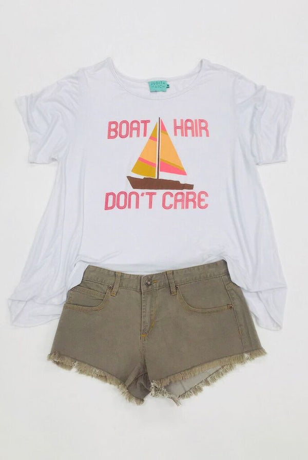 Boat Hair Don't Care Tee