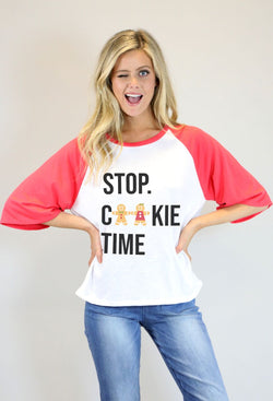 Stop Cookie Time Tee