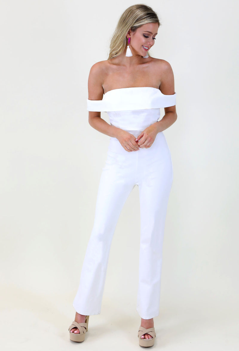 FEELING FINE JUMPSUIT- WHITE