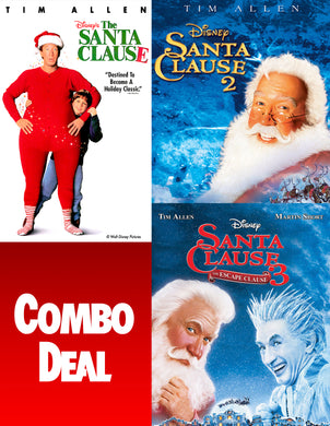 The Santa Clause: 3-Movie Collection HD  VUDU REDEEM