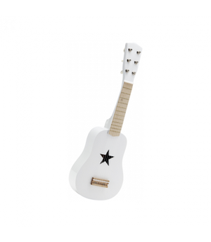 Kids Concept Guitar White Musical Instrument Wooden Toy Raines Nursery