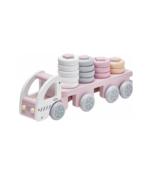 Kids Concept Stacking Ring Truck Pink Raines Nursery
