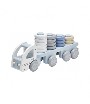 Kids Concept Stacking Ring Truck Blue Raines Nursery