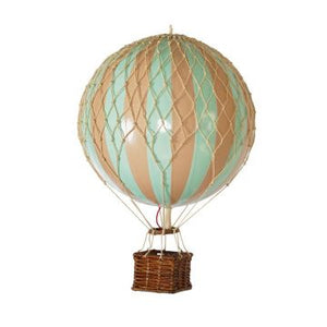 Authentic Models Hot Air Balloons Blue Rainbow Raines Nursery