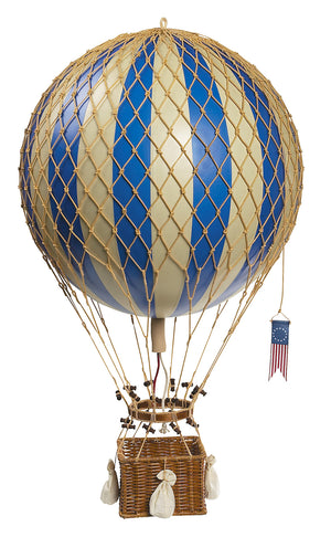 Authentic Models Hot Air Balloon In Blue Raines Nursery