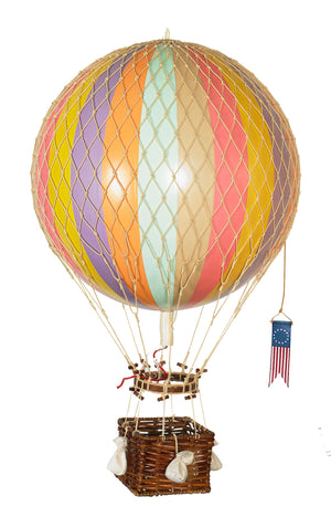 Authentic Models Hot Air Balloon Royal Aero In Rainbow Raines Nursery