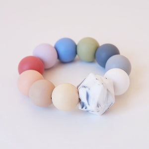 Blossom & Bear Rainbow Teether Toy Baby Shower Gift Raines Nursery
