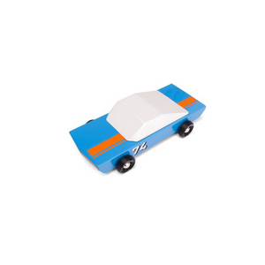 CandyLab BLU74  Racer Wooden Car Toy Raines Nursery