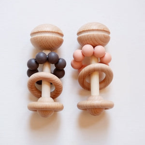 Blossom & Bear Wooden Rattle Baby Gift Raines Nursery