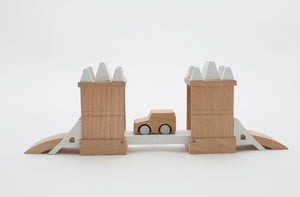 Kiko & GG* Machi Tower Bridge Wooden Toy Raines Nursery