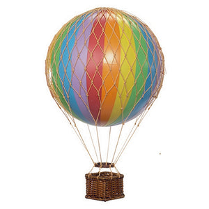 Small Hot Air Balloon - Rainbow