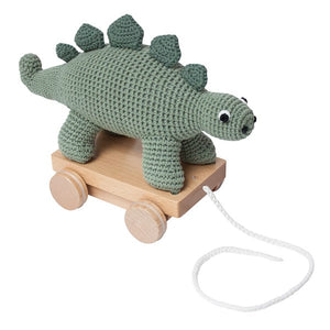 Sebra Crochet Dinosaur Pull Along Soft Toy Doll Modern Nursery Raines Nursery