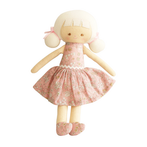 Alimrose Audrey Doll Pink Blossom Soft Toy Raines Nursery Gift Ideas
