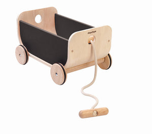 Plan Toys Wagon Wood Pull Along Modern Nursery Raines Nursery