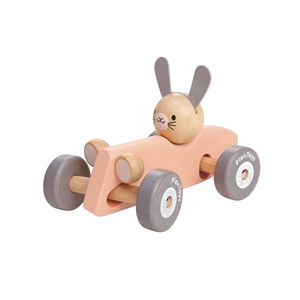 Plan Toys Bunny Racer Wooden Car Toy Raines Nursery
