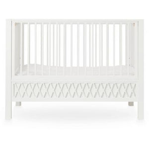 Cam Cam Copenhagen Cot Bed Harlequin White Closed Ends Raines Nursery