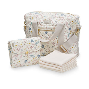 Cam Cam Copenhagen Diaper Bag Package Pressed Leaves Rose Raines Nursery