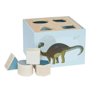 Sebra wooden shape sorter dino by Raines Nursery