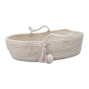 Fabelab Rope Doll Basket Mauve Raines Nursery
