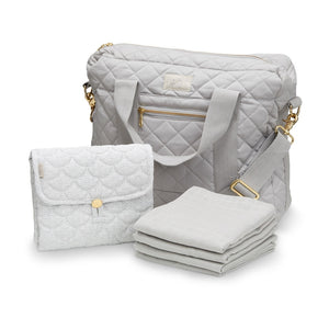 Cam Cam Copenhagen Diaper Bag Package Grey Raines Nursery