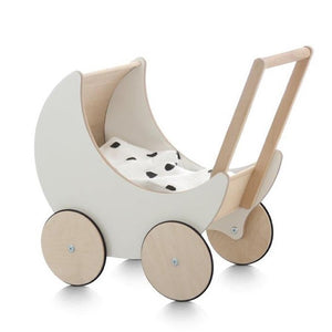 Ooh-Noo Dolls Pram Wooden Raines Nursery