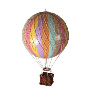 Authentic Models Hot Air Balloon In Pastel Rainbow Raines Nursery