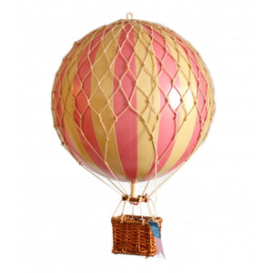 Authentic Models Hot Air Balloon In Pink Raines Nursery
