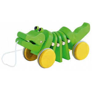 Plan Toys Alligator Dancing Pull Along Wooden Toy Raines Nursery
