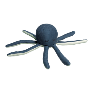 Fabelab Rattle soft Octopus Blue Spruce Raines Nursery
