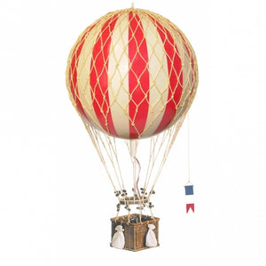 Authentic Models Hot Air Balloon In Red Raines Nursery