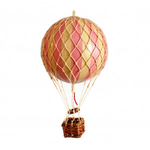 Authentic Models Float in  the skies Pink Hot Air Balloon Raines Nursery