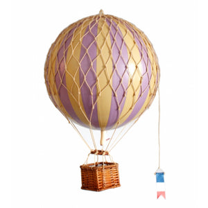 Authentic Models Hot Air Balloon Lavendar Travels Light Raines Nursery