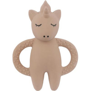 Konges Slojd Teether Toy Unicorn Rose Raines Nursery
