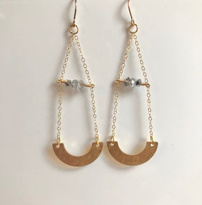 Herkimer Diamond Daydream Earrings - long