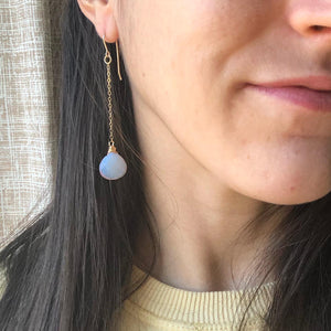 Opal Droplet Earrings