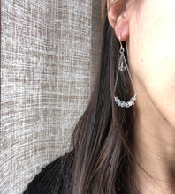 Load image into Gallery viewer, Herkimer Diamond Swing Earrings