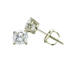 2.00 Ct. T.W. Certified White Lab-Grown Diamond Stud 14K Gold Earrings
