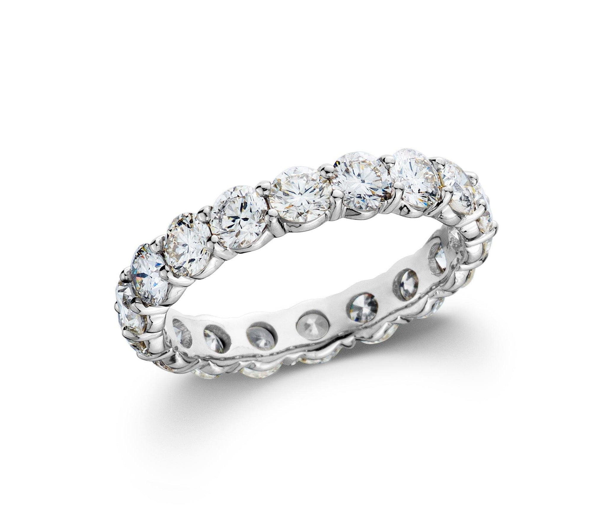 Lab-Grown Diamond eternity band white gold