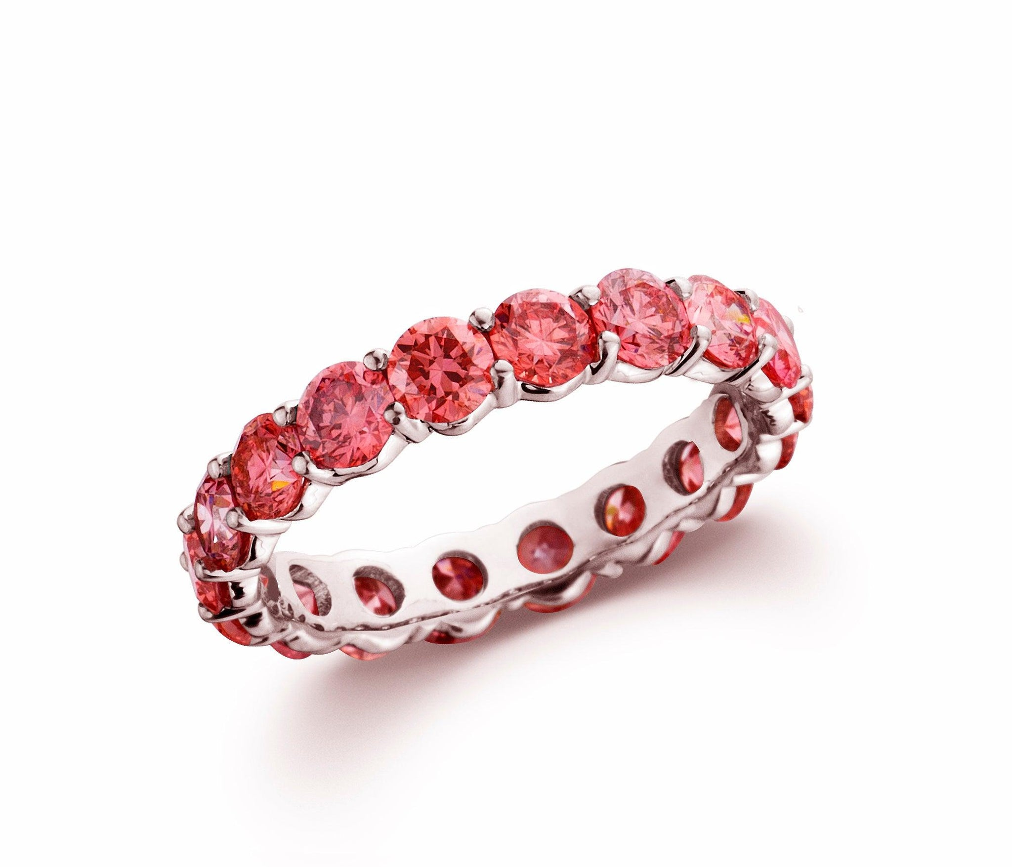 Pink Diamond Lab-Grown Eternity Band