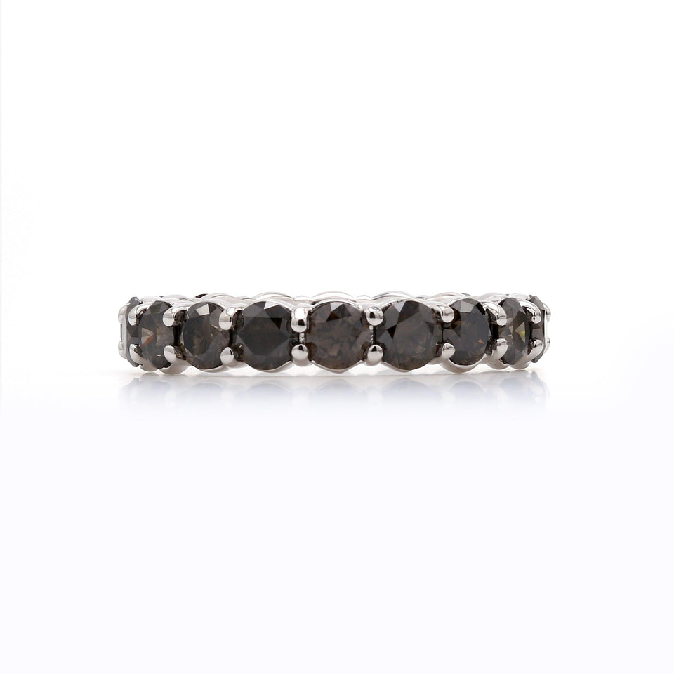Olive Diamond eternity band white gold ring