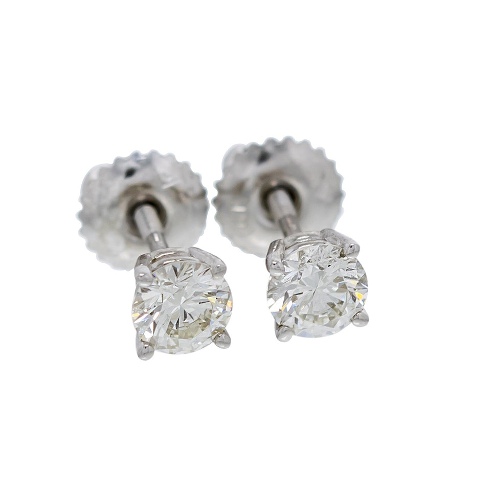 IGI Certified 1/2-1.00 Ct. T.W. White Lab-Grown Diamond Stud 14K Gold Earrings