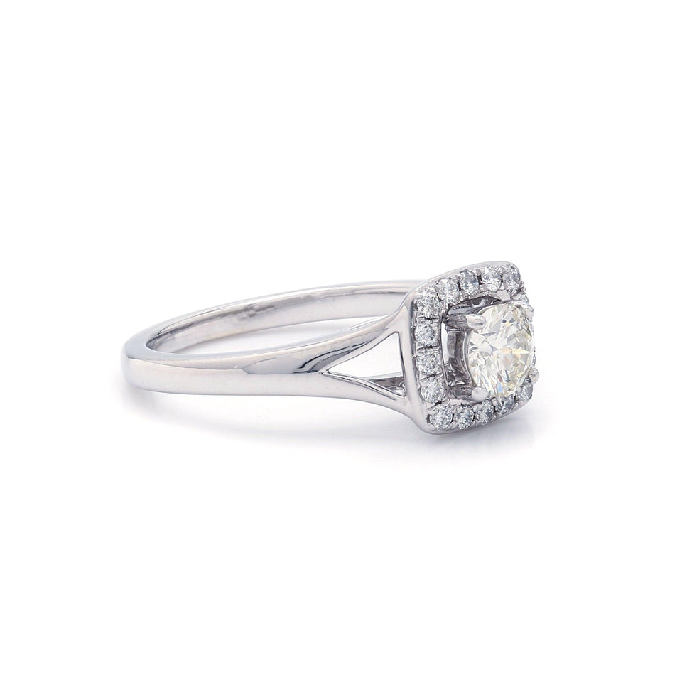 Halo White Gold Engagement Ring
