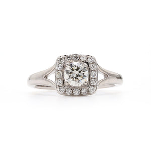 Square Halo Lab-Grown Diamond Engagement Ring