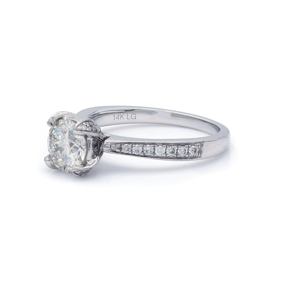 1/4 Ct. T.W. Lab-Grown Diamond 14K White Gold Engagement Ring