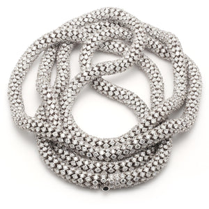88 carat lace necklace white gold