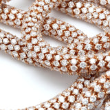 88 carat lace necklace rose gold close-up