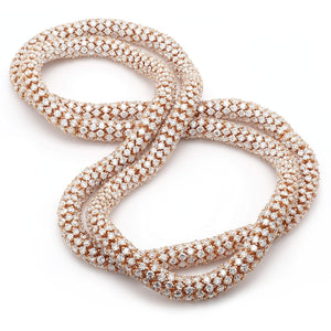 54 carat lace necklace rose gold