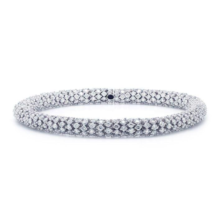 17 carat lace bracelet white gold