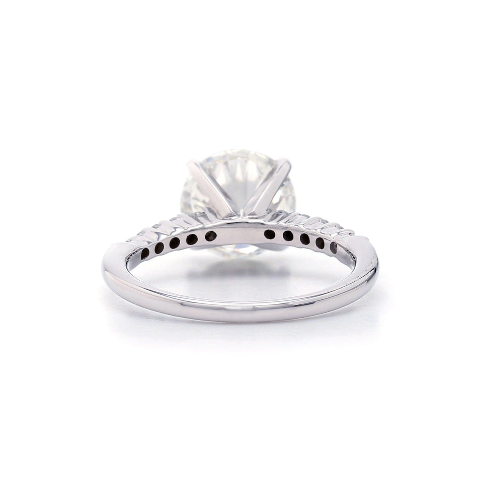 3.45CTTW Lab Grown IGL Certified Diamond 14K White Gold Ring