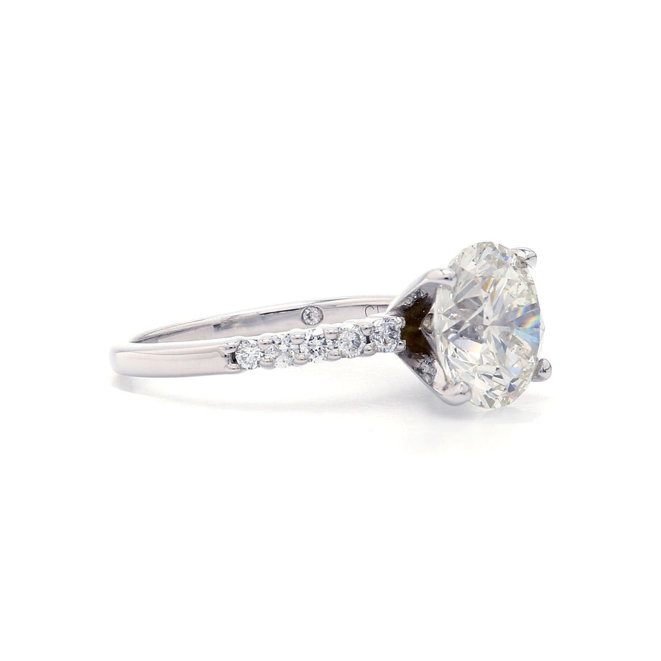 3.45 Ct. T.W. Lab Grown Certified Diamond 14K White Gold Ring